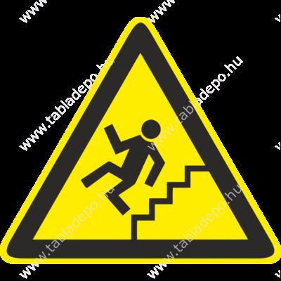 Vigyázat lépcső tábla