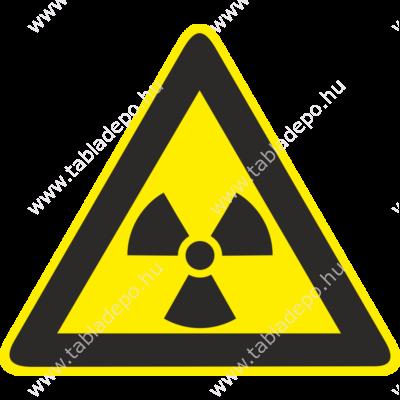 sugárveszély tábla, sugárveszély matrica