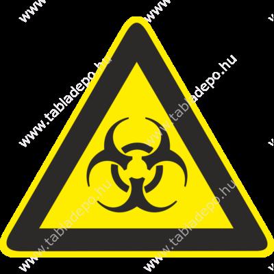 biológiai veszély tábla, biológiai veszély piktogram