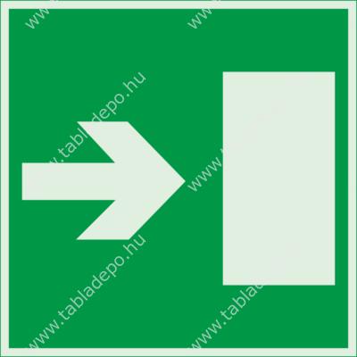 utánvilágító tábla, menekülési útvonal tábla, matrica